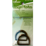 Clover 6181 - D-Rings 20mm - Black Nickel