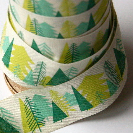 Alice Pattullo Christmas Trees Ribbon - By The Metre