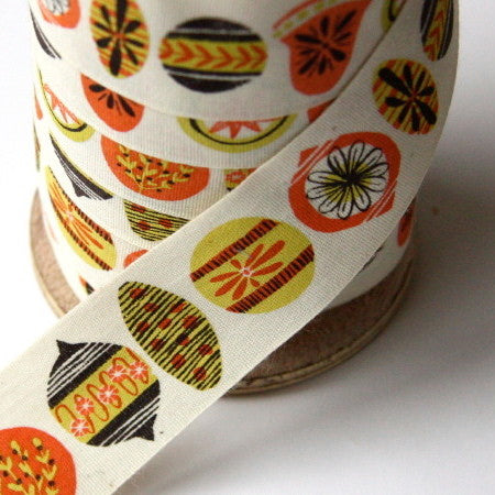 Alice Pattullo Christmas Baubles Ribbon - By The Metre