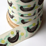Alice Pattullo Christmas Partridge Ribbon - By The Metre