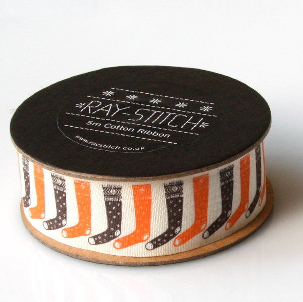 Alice Pattullo Christmas Stockings Ribbon - 5 Metre Reel