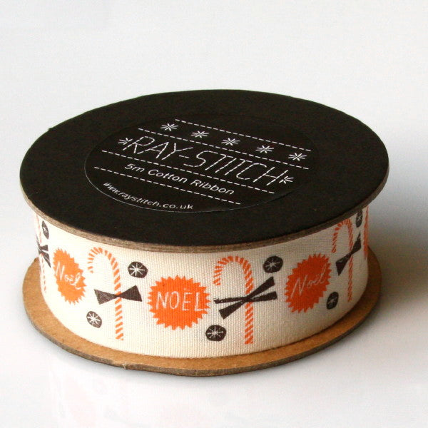 Alice Pattullo Christmas Candy Ribbon - 5 Metre Reel
