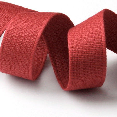 Cotton Strap Webbing - Red