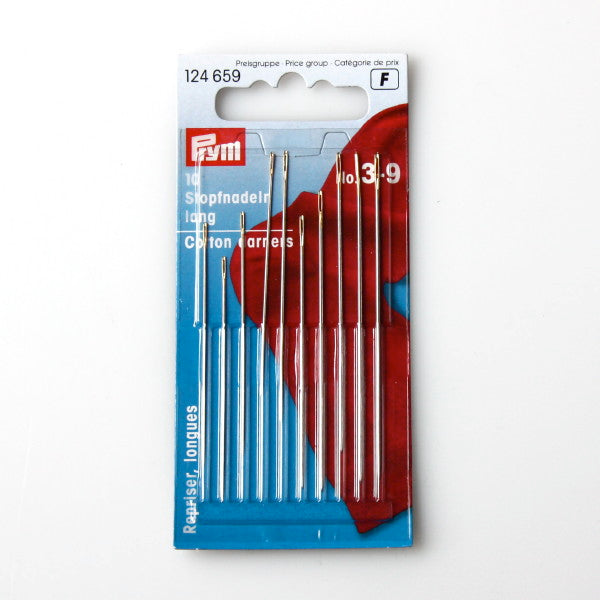 Prym 124659 - Cotton Darning Needles No. 3-9