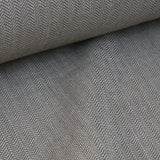 Organic Cotton Herringbone - Grey-Brown