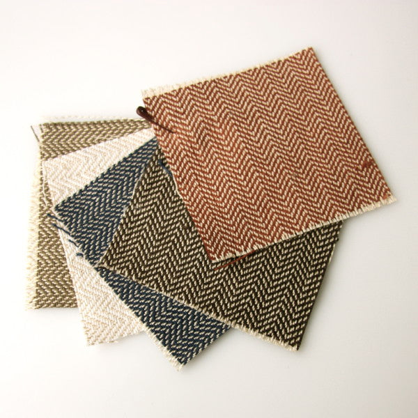 Organic Cotton Herringbone - Swatch Pack