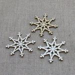 Wooden Embellishment - Snowflakes - Pack of 3