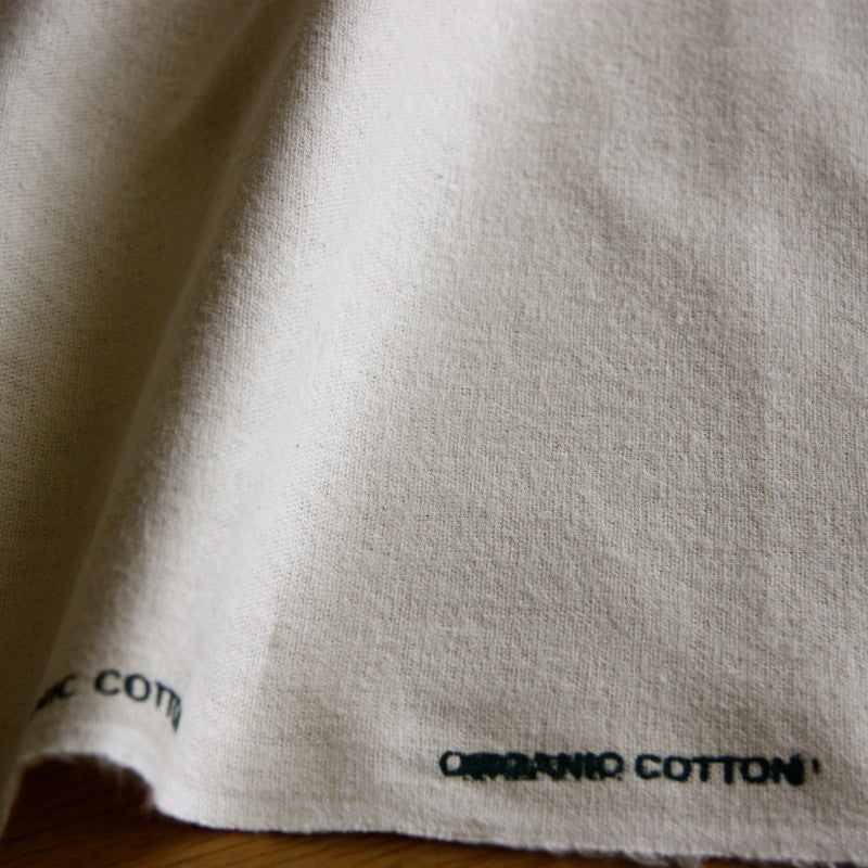 Organic Brushed Cotton Flannel - Natural