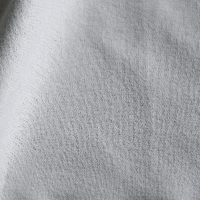 Organic Brushed Cotton Flannel - White