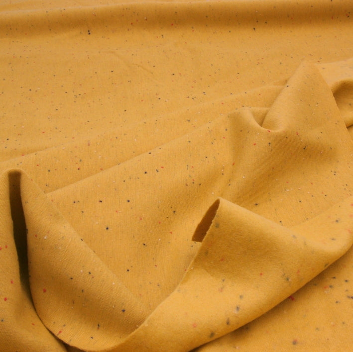 Cotton Sweatshirt Fleece - Speckled Mustard