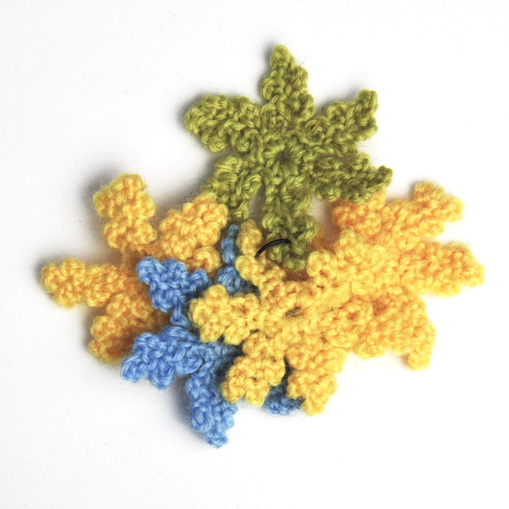 Crochet Flower Bundle - Yellows, Blues and Greens