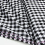 Wide Cotton Gingham - Black/White 10mm