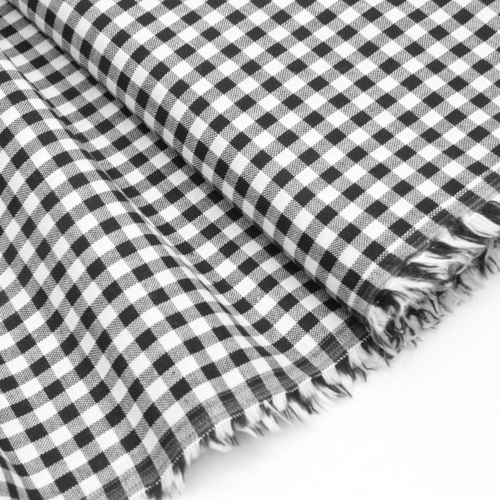 Wide Cotton Gingham - Black/White 5mm