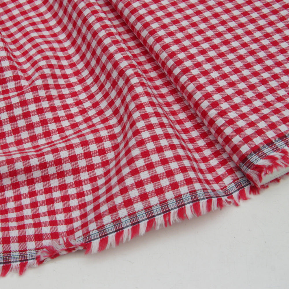 Wide Cotton Gingham - Red 5mm