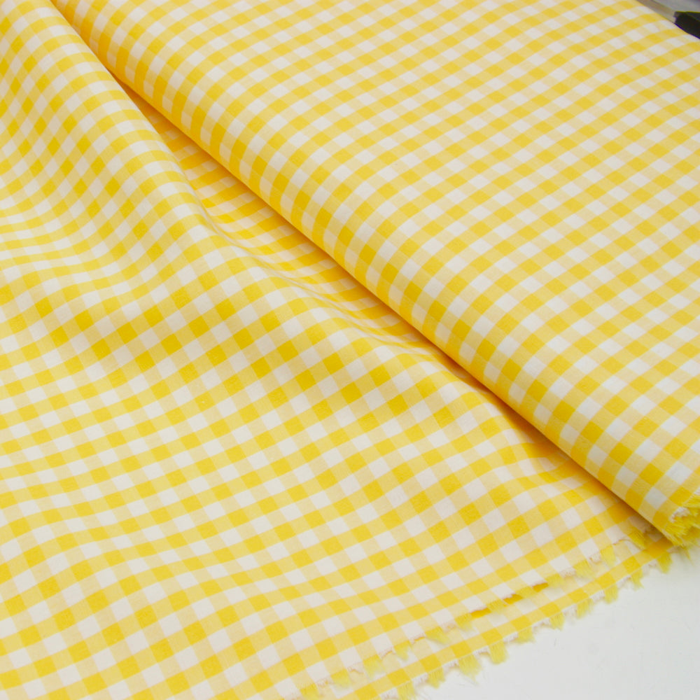 Wide Cotton Gingham - Yellow 5mm