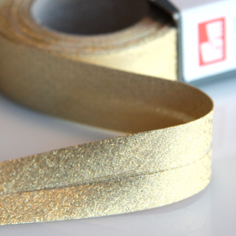 Prym Lurex Bias Binding - Gold Metallic