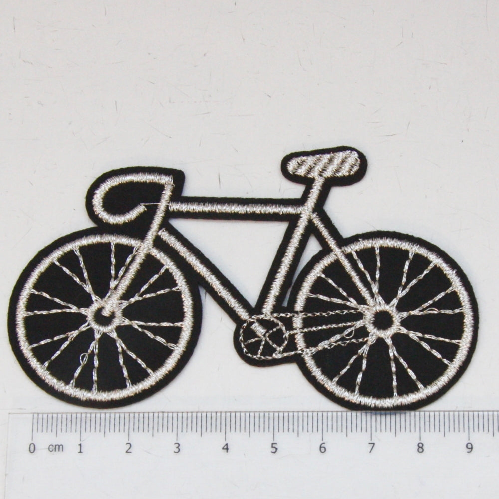 Iron-On Patch - Silver Bike