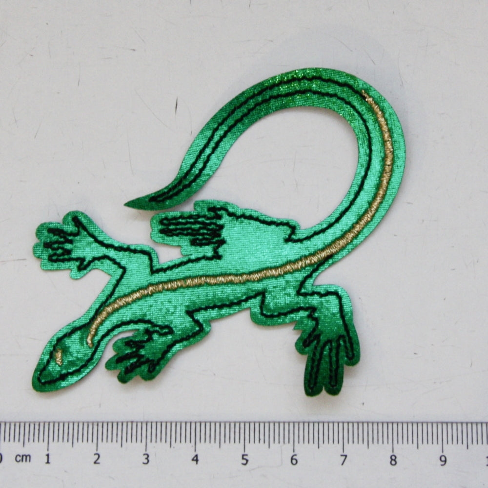 Iron-On Patch - Green Lizard
