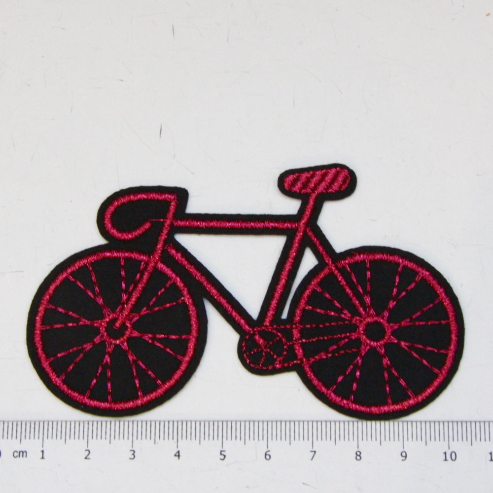 Iron-On Patch - Pink Bike