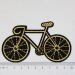 Iron-On Patch - Gold Bike
