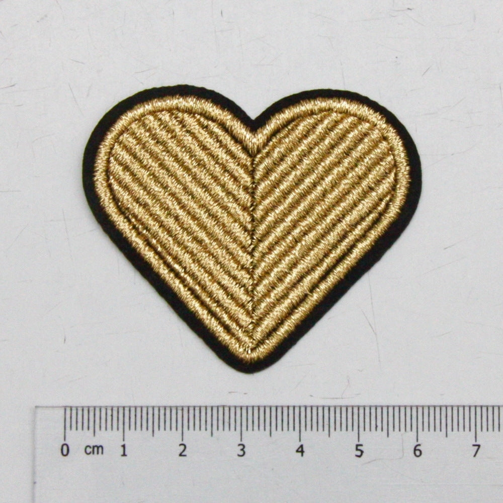 Iron-On Patch - Gold Heart
