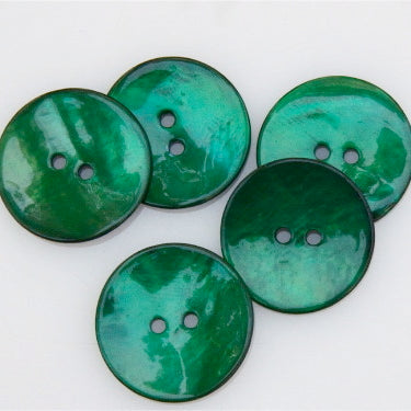 Coloured Shell Buttons - Emerald