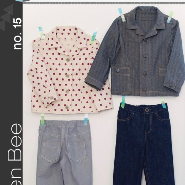 Green Bee Kids Patterns - Dylan Unisex Jacket & Jeans