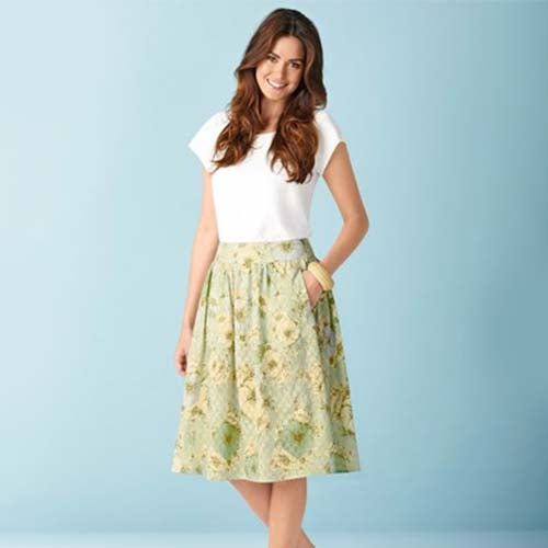Simplicity 1369 - Gathered Skirts with Overlay