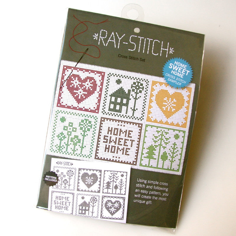 Ray Stitch 'Home Sweet Home' Cross Stitch Sampler Kit