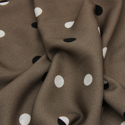Lady McElroy - Viscose Print - Sheridan Spot - Brown