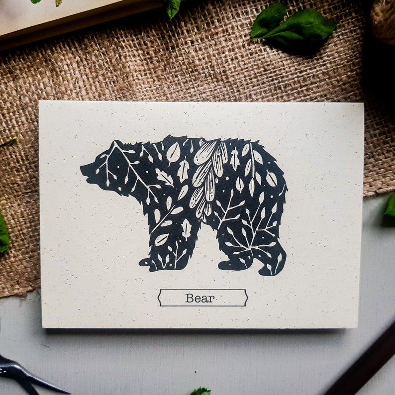 Bear Illustration Greetings Card