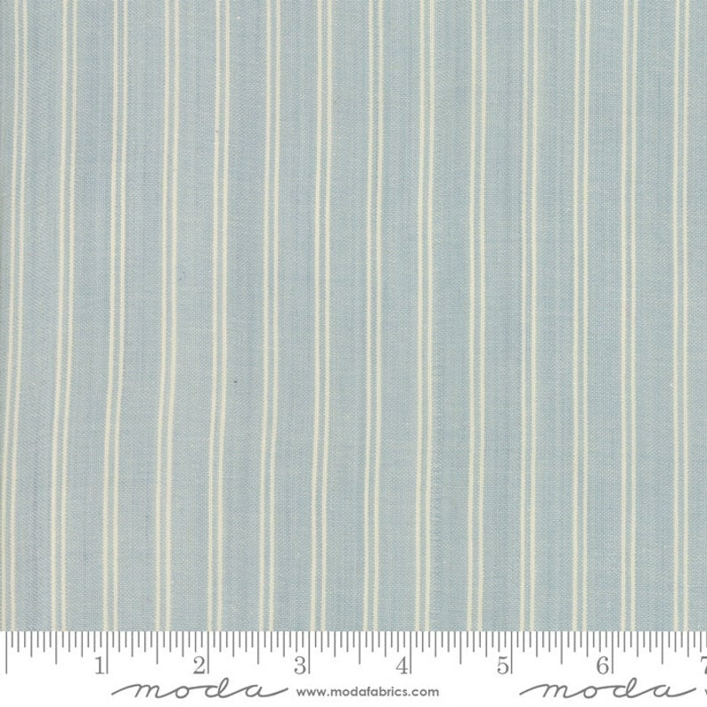 Minick and Simpson - Northport Silky Wovens - Blue Chambray Stripe