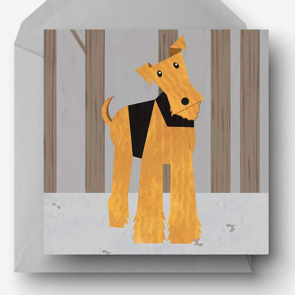 Airedale / Welsh Terrier Greetings Card