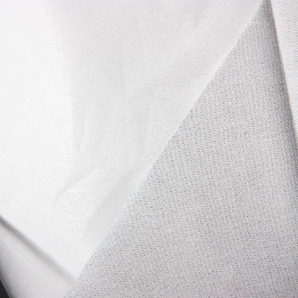 Manly Fusible Woven Interfacing - Collar Weight  - White