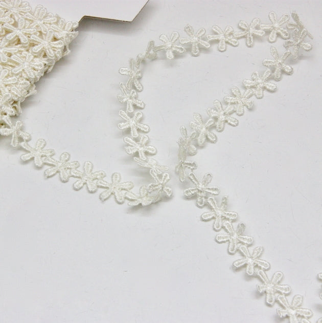 Polyester Guipure Lace 12mm - Edelweiss Ivory