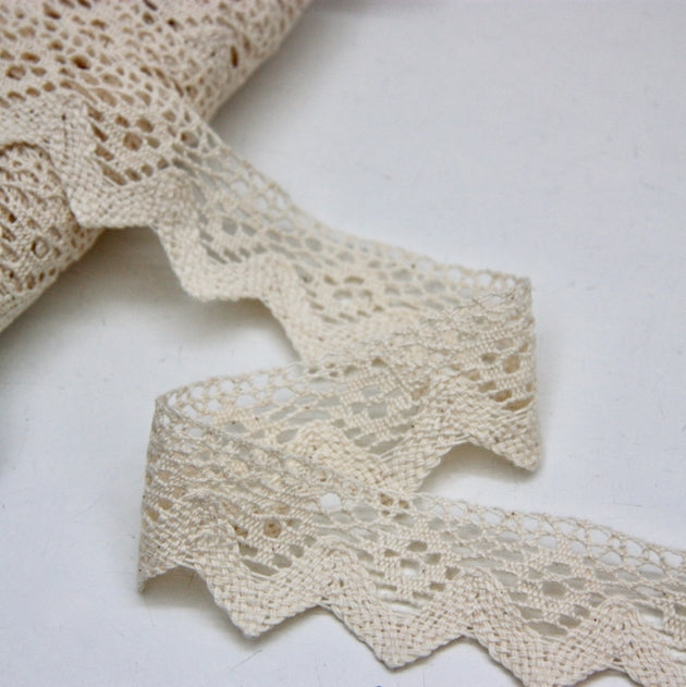 Cotton Cluny Lace 40mm - Ecru