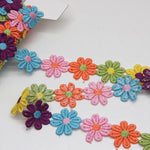 Polyester Guipure Lace 26mm - Daisy Multi
