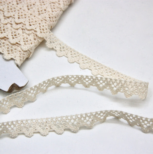 Cotton Cluny Lace 15mm - Ecru