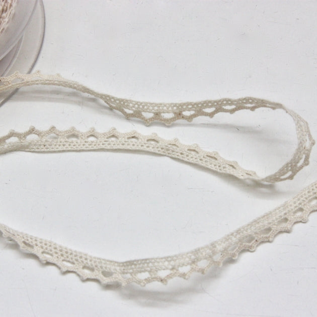 Cotton Cluny Lace 10mm - Ecru