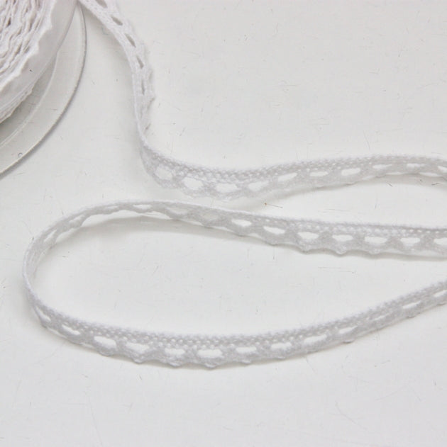 Cotton Cluny Lace 10mm - White