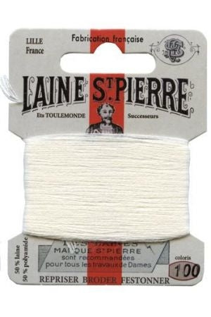 Wool Darning Thread - White 100