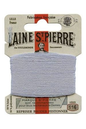 Wool Darning Thread - Light Grey 116