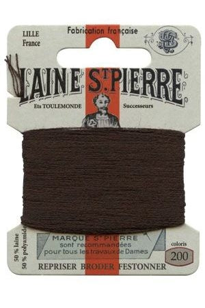 Wool Darning Thread - Dark Brown 200
