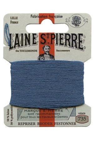 Wool Darning Thread - Enamel Blue 735