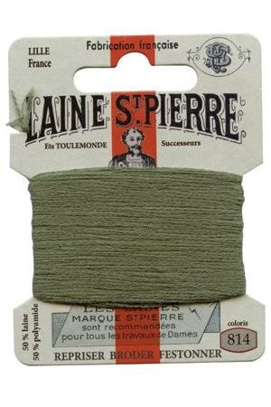 Wool Darning Thread - Sage Green 814