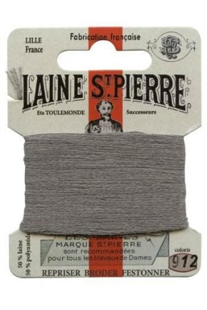 Wool Darning Thread - Grey 912
