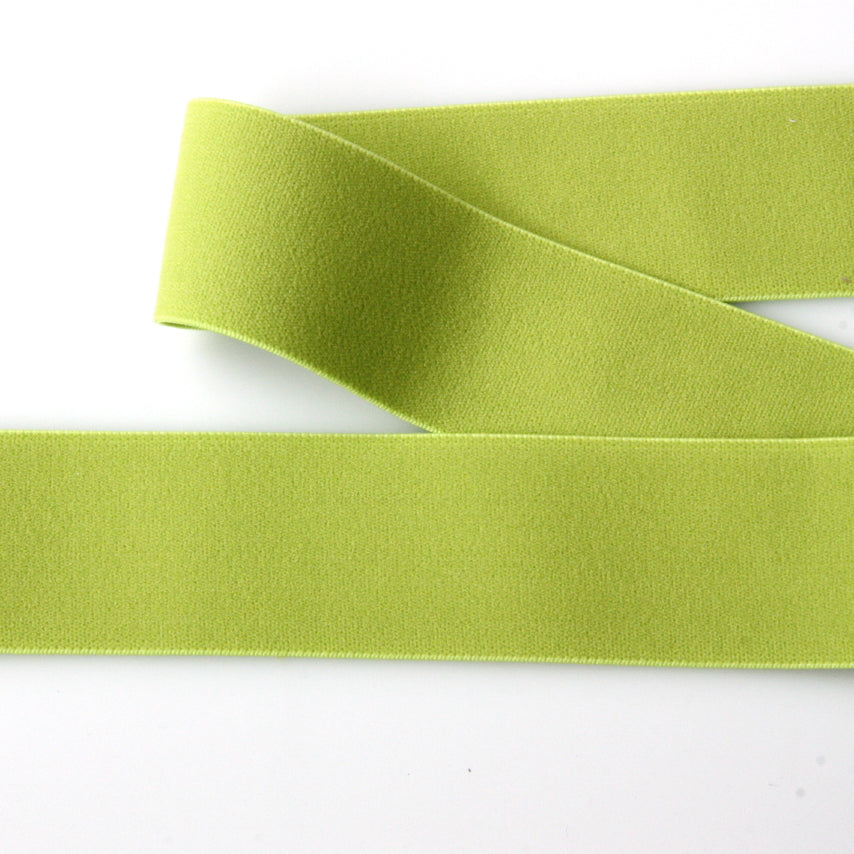 Soft Wide Belting Elastic - Citrus Green