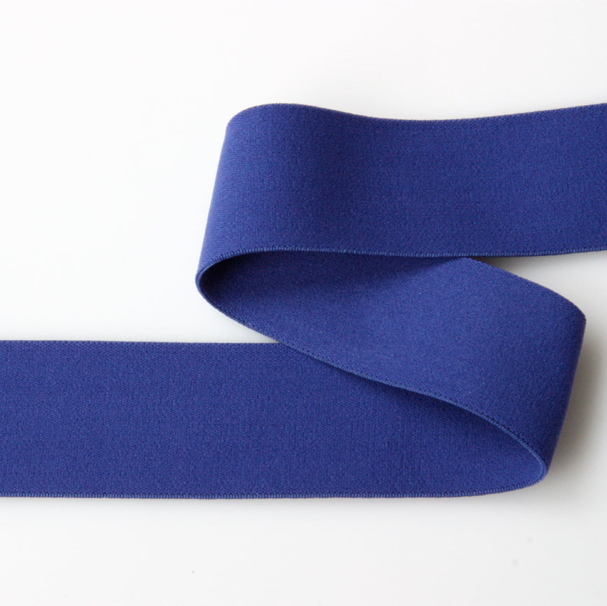 Soft Wide Belting Elastic - Blue