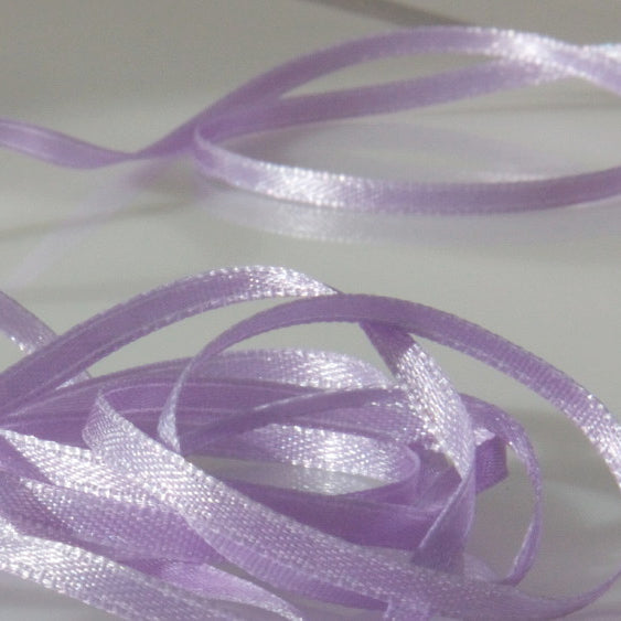 Narrow Satin Ribbon - Lilac