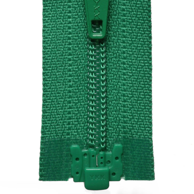 Light Nylon Open-Ended Zip - Emerald 152
